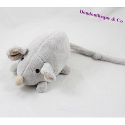 Plush mouse BEAR HISTORY gray beige bells 20 cm