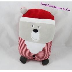 Teddy bear ORCHESTRA Santa Claus grey red Prémaman 20 cm