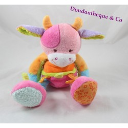 Cow plush NATTOU Funny Farmers pink orange Green 30 cm