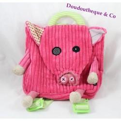 LES DEGLINGOS Jambonos pig pig backpack pink 30 cm