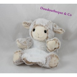 Doudou puppet sheep RODADOU RODA white beige hair 23 cm long