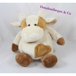 Doudou cow story beige brown bear 25 cm