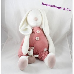 Rabbit comforter MOULIN ROTY Myrtille and Capucine pink dress 34 cm