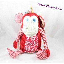 Plush monkey the DEGLINGOS red grooves Bogos flowers 27 cm