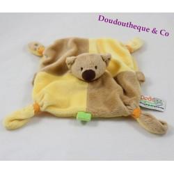 Doudou plat koala MGM DODO D'AMOUR beige jaune 22 cm