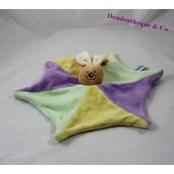 Noudours rabbit flat comforter star shape purple yellow 30 cm