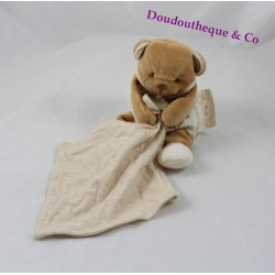 Doudou bear handkerchief DOUDOU AND COMPAGNIE organic beige brown 17 cm