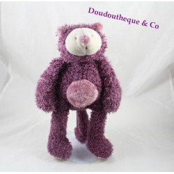 Doudou Mia chat MOULIN ROTY Les Zazous violet 25 cm
