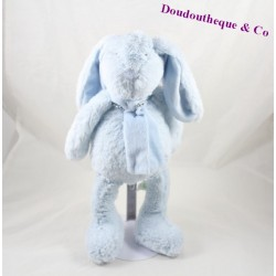 Doudou rabbit flat BOUCHARA white gray layette Eurodif 44 cm