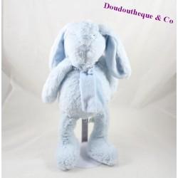 Peluche lapin BOUCHARA bleu écharpe 35 cm