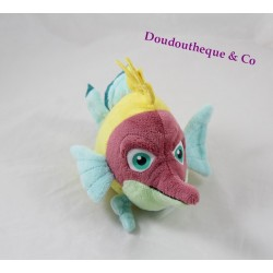 Peluche Pipo poisson GIPSY Sammy & Co jaune vert bleu 22 cm