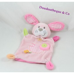 Doudou flat dog pink embroidered tiles 29 cm NICOTOY