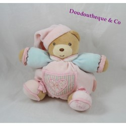 Bears Doudou KALOO Liliblue heart blue pink fatty arms 20 cm