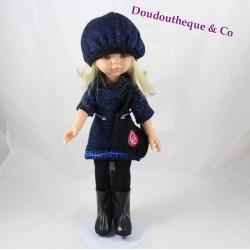 Poupée blonde Claudia PAOLA REINA 04501 tenue bleue nuit 32 cm