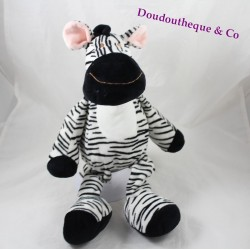 Plush Zebra black white striped NICOTOY 40 cm