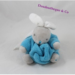 Mini doudou rabbit KALOO blue atoll Neon feather attachment nipple 18 cm