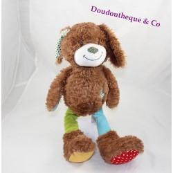 Youmi dog stuffsiMBA TOYS NICOTOY brown green pea 38 cm