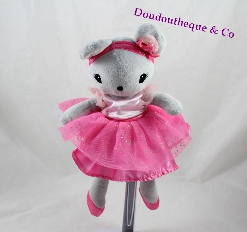 Doudou Maus H & M Kleid Rosa Tänzerin Tutu Ballerina 25 cm SOS