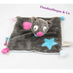 Doudou flat Berry dog PERICLES Forest heart Pink Blue Star
