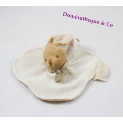 Doudou flat Bunny BLANKIE and company bio beige Natalys 17 cm