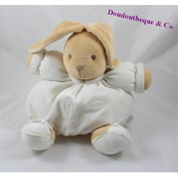 Budderball Doudou rabbit KALOO Dragée leaves white 22 cm