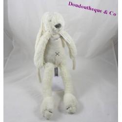 Peluche musicale lapin HAPPY HORSE beige croix sur le ventre 40 cm