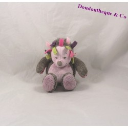 Mini blankie Hedgehog NATTOU Manon and Brown rose Alizée rattle Bell 16 cm