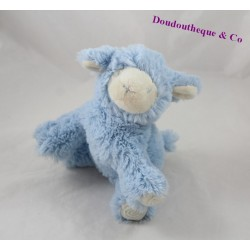 Blanket plush sheep PEDIATRIL AVÈNE blue 17 cm