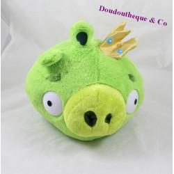 Peluche balle roi cochon TCC Angry Birds vert couronne 22 cm