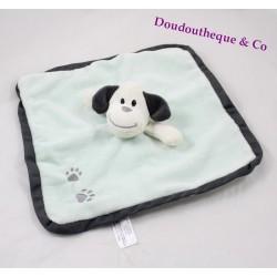 Hund Glocke flach Doudou ZEEMAN Quadrat grüne Fußabdrücke 26 cm