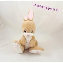 Don Brown H & M sitting Bunny rabbit plush beige rose 26 cm