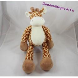 Peluche girafe NICOTOY beige tâches marron 40 cm