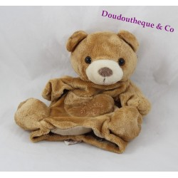 Doudou puppet bear bear Brown 23 cm Pocket history