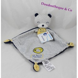 Bear flat Doudou words of children my little mountain cape blue 34 cm