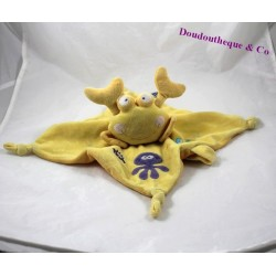 Doudou flat crab, yellow children's words