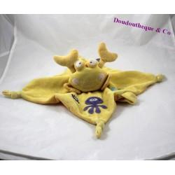 Doudou plat crabe jaune MOTS D'ENFANTS