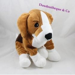 Peluche chien IKEA Gosip Valp  beagle marron blanc 33 cm