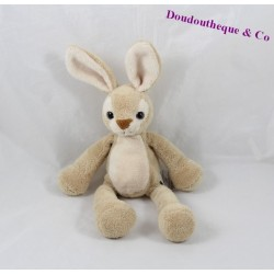 Doudou lapin CMP beige yeux plastique 20 cm