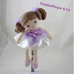 Poupée Nadinka BUKOWSKI ballerine robe satin mauve 30 cm