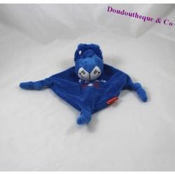 Doudou plat lion OLYMPIQUE LYONNAIS foot P'tit fan de l'OL bleu 25 cm