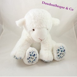 Plush sheep the little PRINCE blue white Cottonblue sitting 30 cm