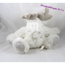 Deer MAXITA white hair reindeer plush 25 cm long scratches