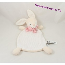 Doudou rabbit flat H & M scarf Pink White peas 30 cm