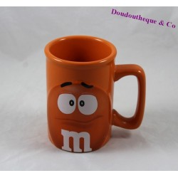 Mug embossed M & m's 3D orange ceramic mug 11 cm