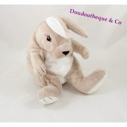 Plush rabbit IKEA Gosig Kanin beige gray white 26 cm