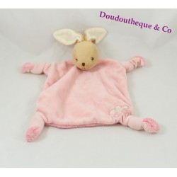 Doudou rabbit flat KALOO Lilirose Flower Pink 4 knots