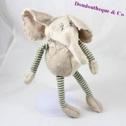 Peluche Elephant HISTOIRE D'OURS Les drôles en sac 40 cm
