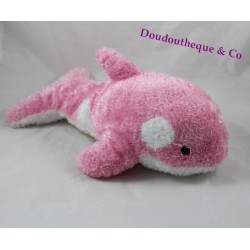 Stuffed Orca MARINELAND pink and white hair long 35 cm