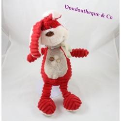 Plush rabbit TEX BABY crossroads red scarf beige 33 cm
