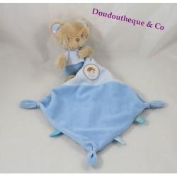 Teddy handkerchief bear TEX BABY blue Rocket Boy Carrefour 36 cm